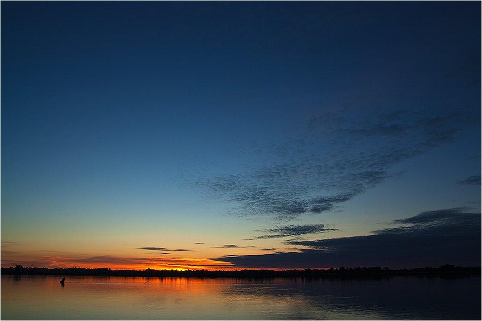 волга, река, рассвет, утро, Адясов Алексей