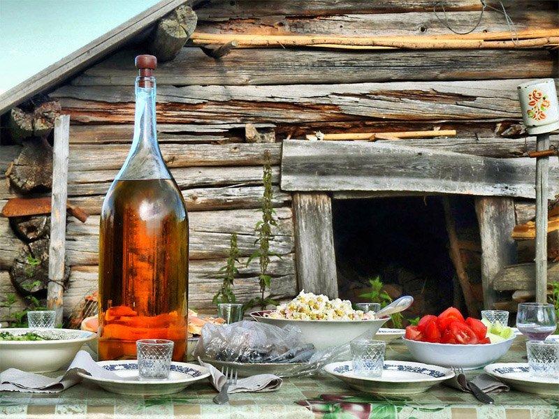 натюрморт,застолье,деревня,самогон, EvgenyBarannikov