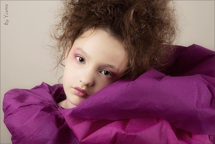 девочка, фуксия, модель, Yianni