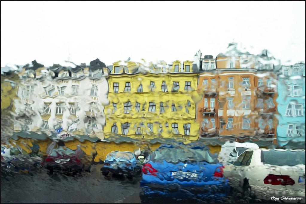 карловы, вары, дождь, город, Olga Shiropaeva