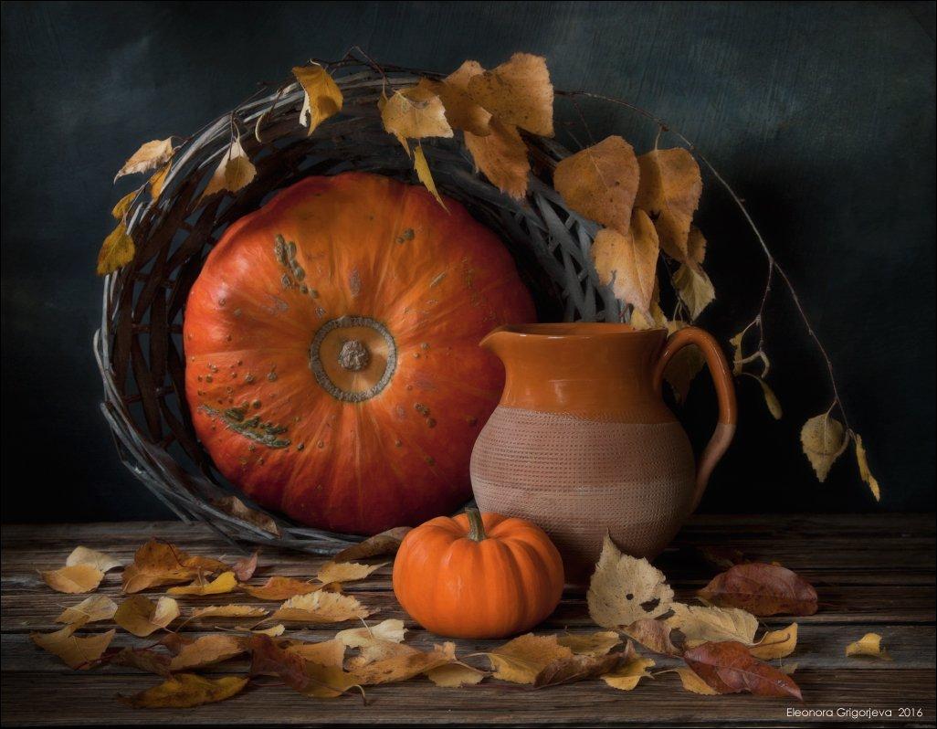 осень, листопад, ноябрь, тыква, корзина, натюрморт, Eleonora Grigorjeva