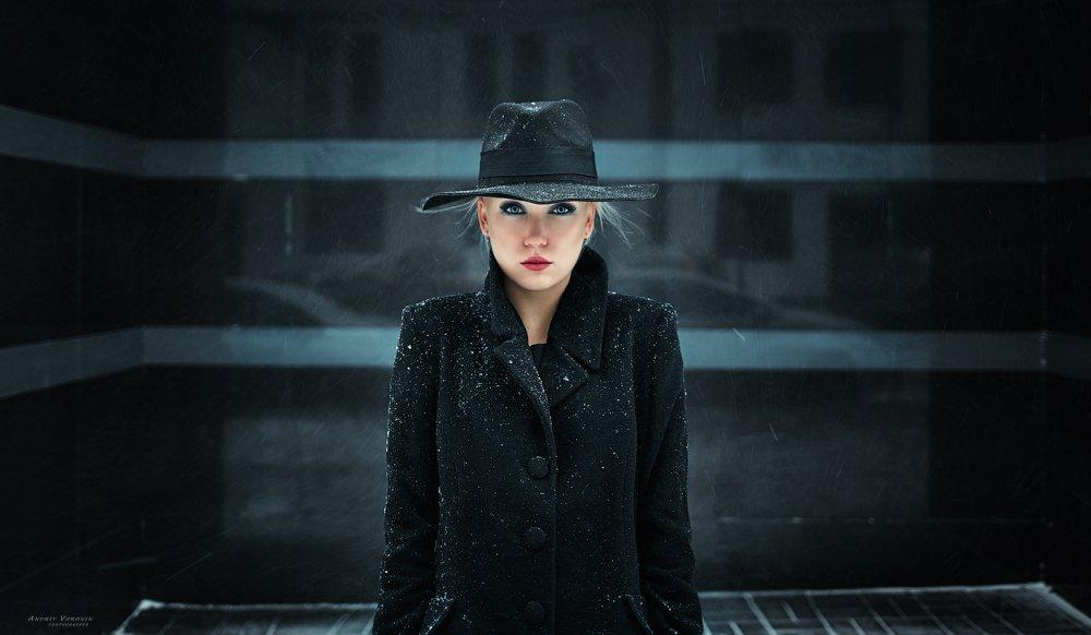 улица,глаза,девушка,снег,портрет,, Воронин Андрей