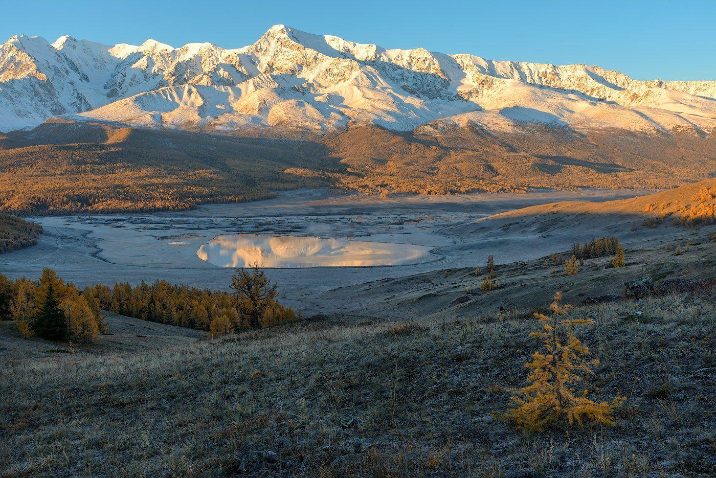 пейзаж, горы, утро, рассвет, осень, лес, Dmitriy  Baginskiy