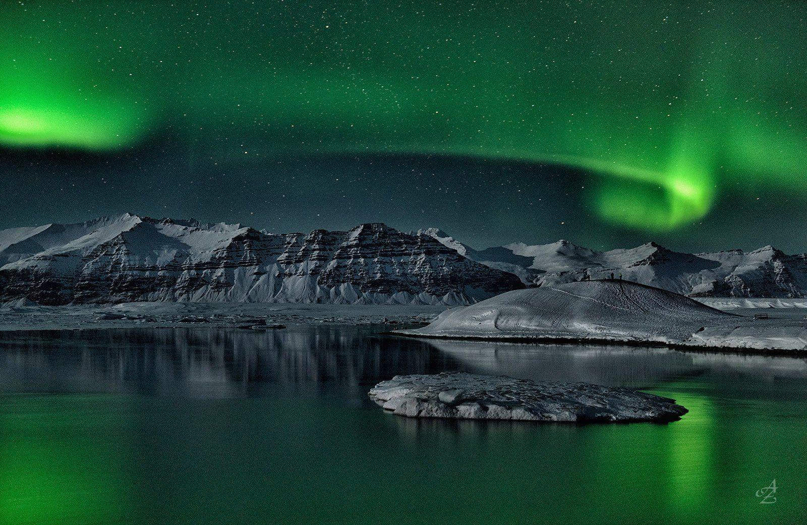 северное сияние, исландия, Alex Mimo