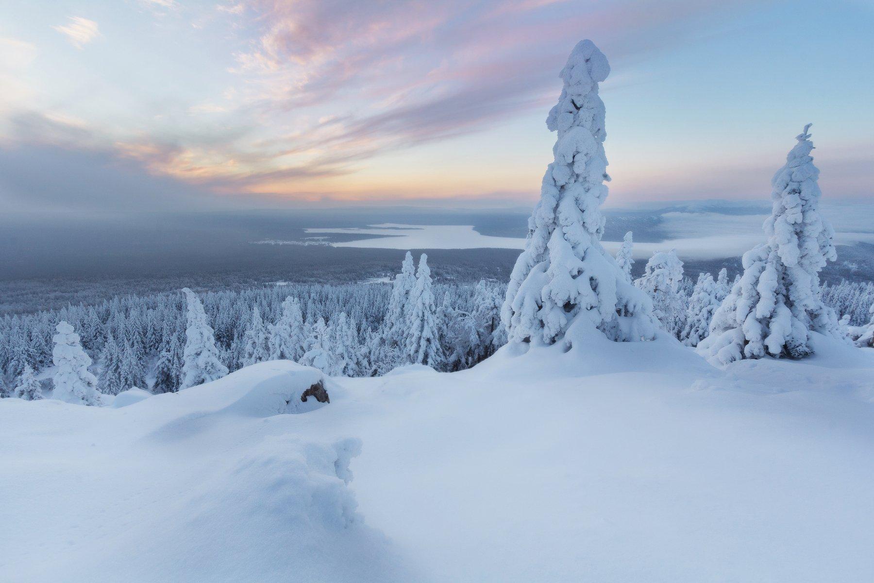 урал, южный урал, урал, уральские горы, хребет, уральский хребет, восход, зима, Сергей Гарифуллин