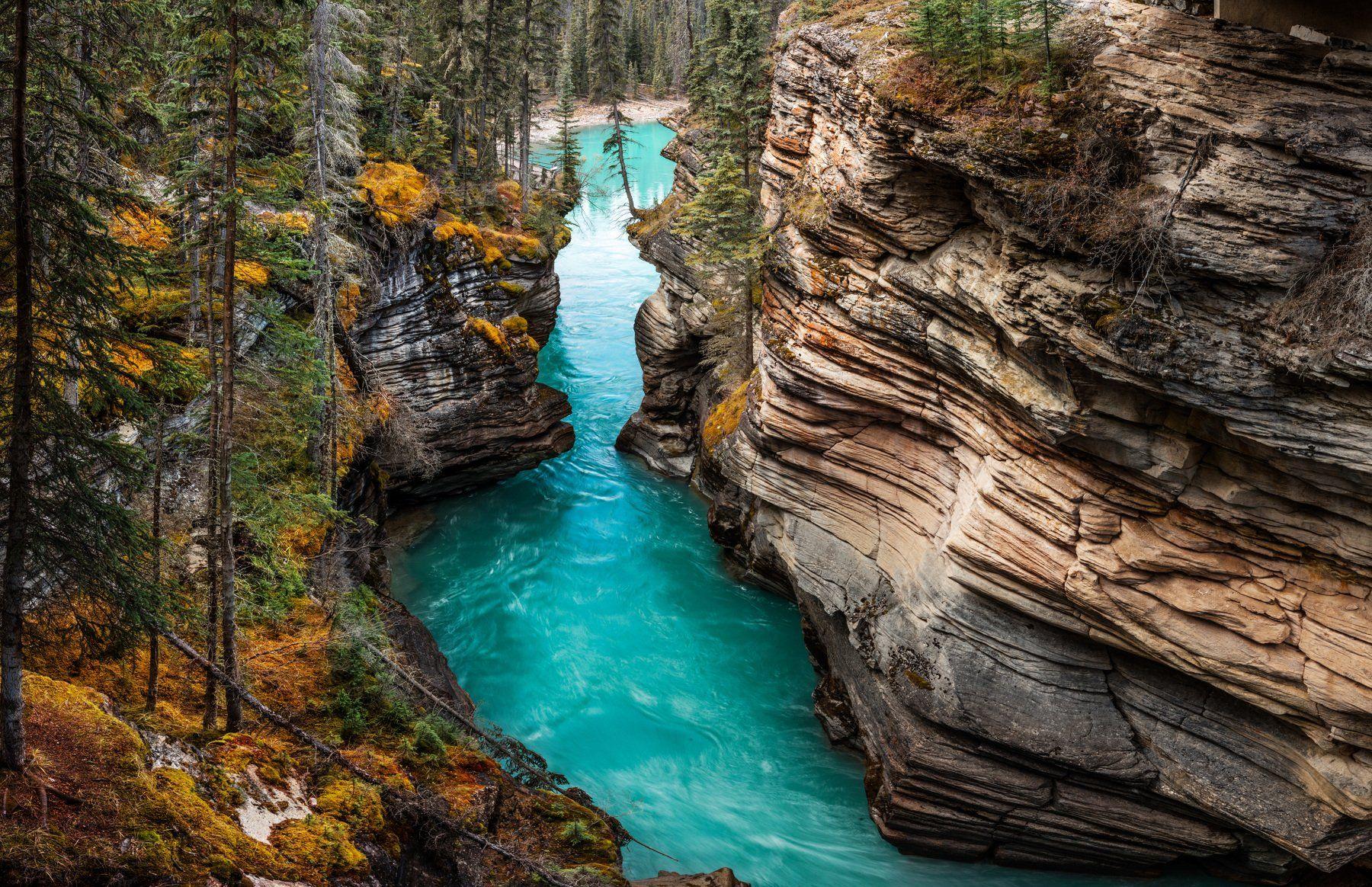 Athabasca Falls, Canada, Канада, Алексей Сулоев