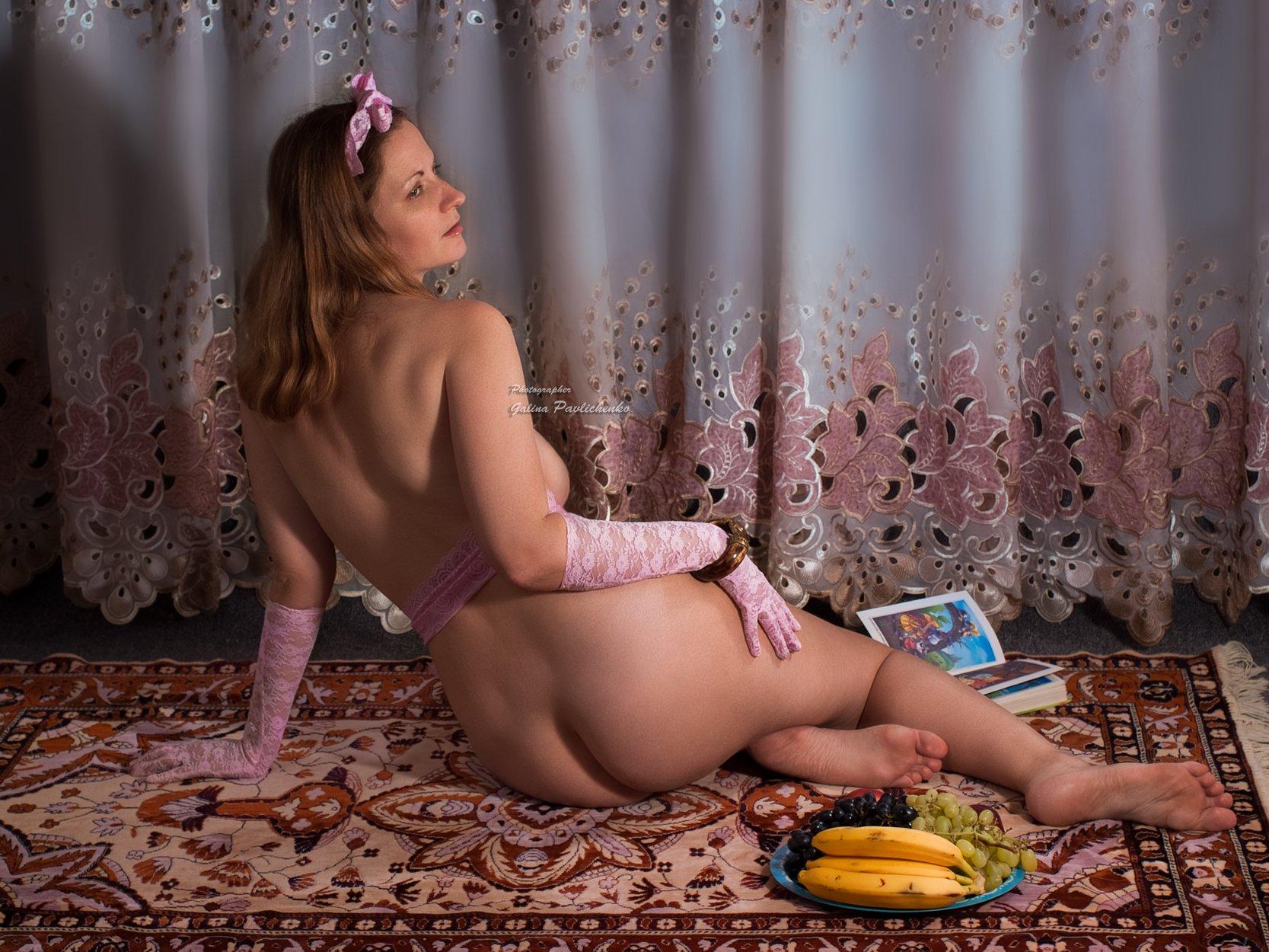 девушка , женщина , эротика , обнажённое тело , восточные сказки, книга, образ , ню , фрукты, Галя