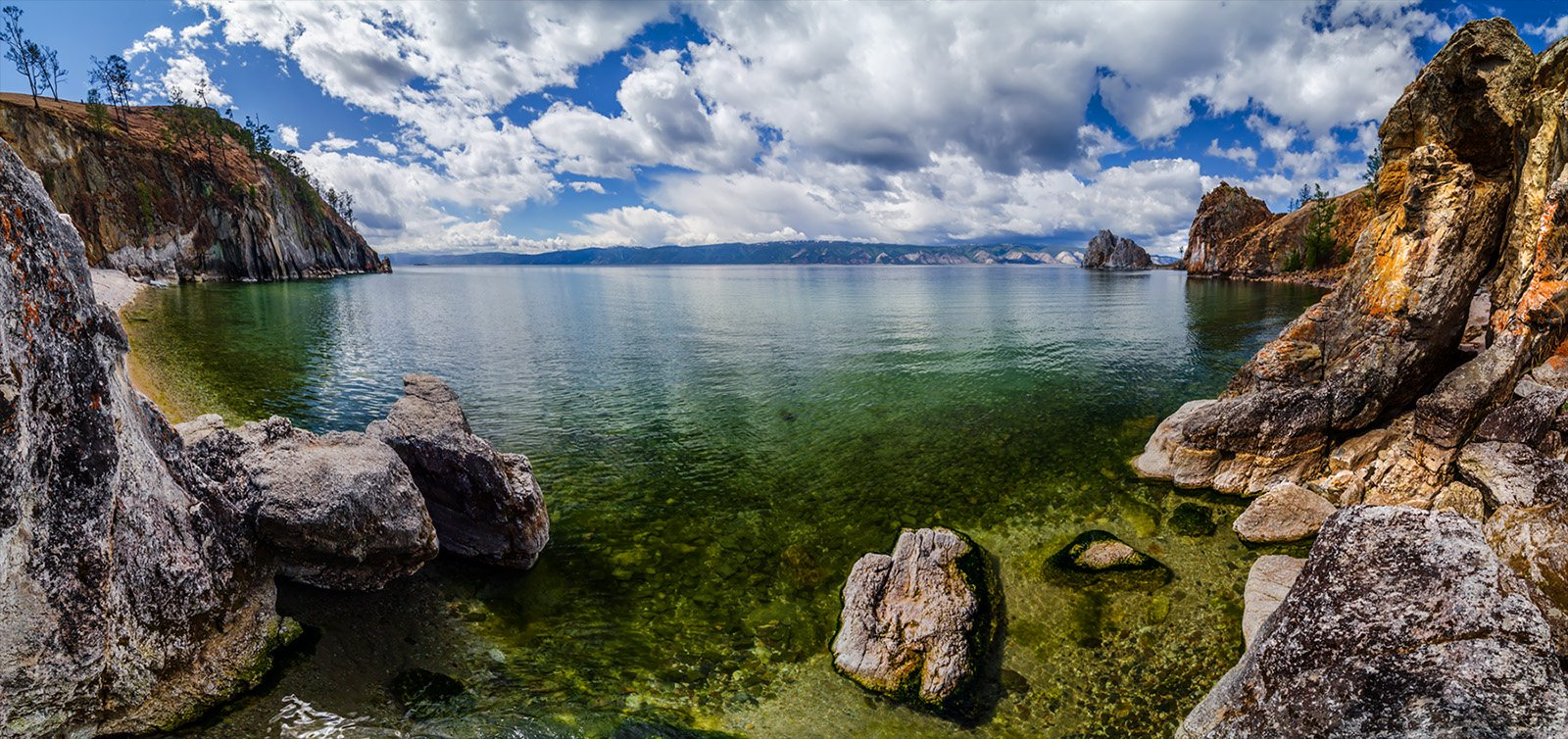 природа, пейзаж, озеро, байкал, сибирь, лето, бухта, остров, ольхон,, Альберт Беляев