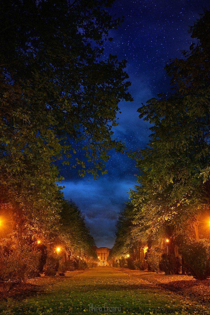 night, landscape, stars,, Akira Enzeru