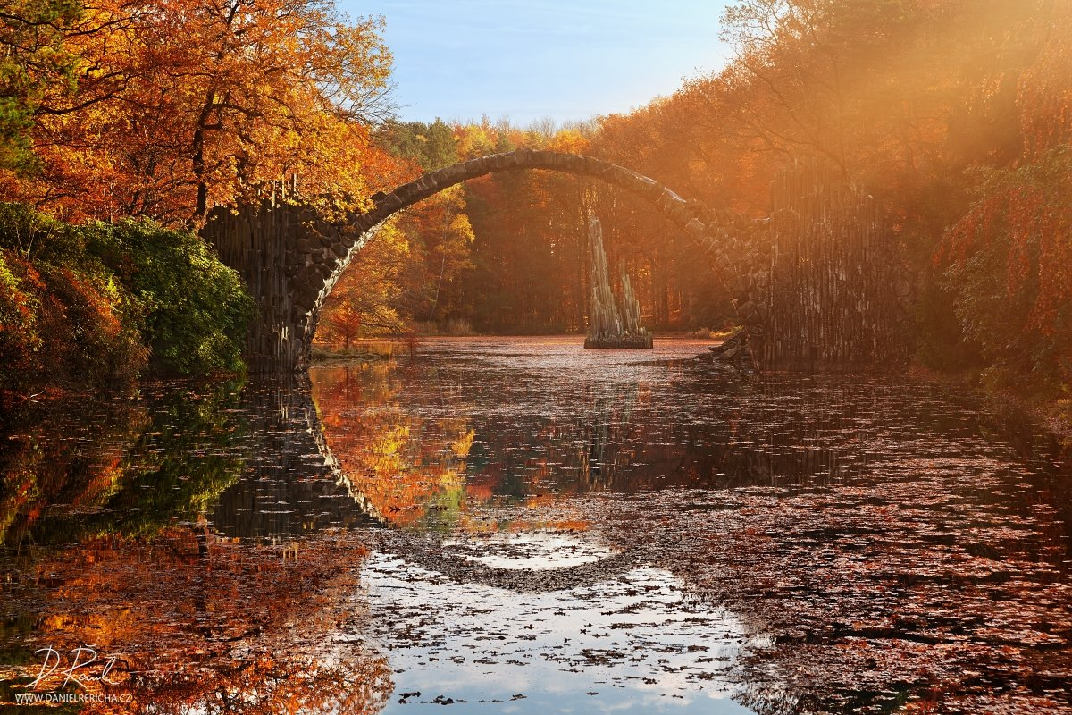 Germany, Görlitz, Stone bridge, Rakotzbrücke, Gablenz, Rakotzsee, Kromlauer Park, Europe, lake, autumn, autumn colors, reflection, travel, bridge, mirror, , Daniel Rericha