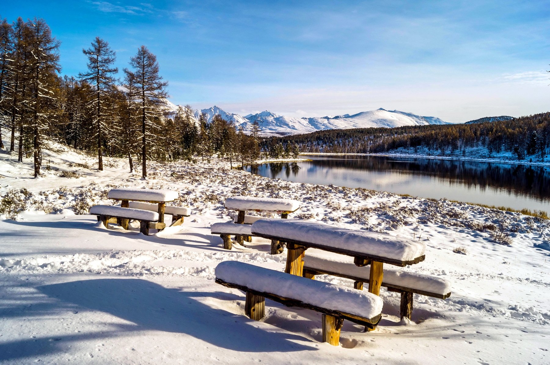 природа алтай путешествие  пейзаж  снег озеро киделю, Людмила