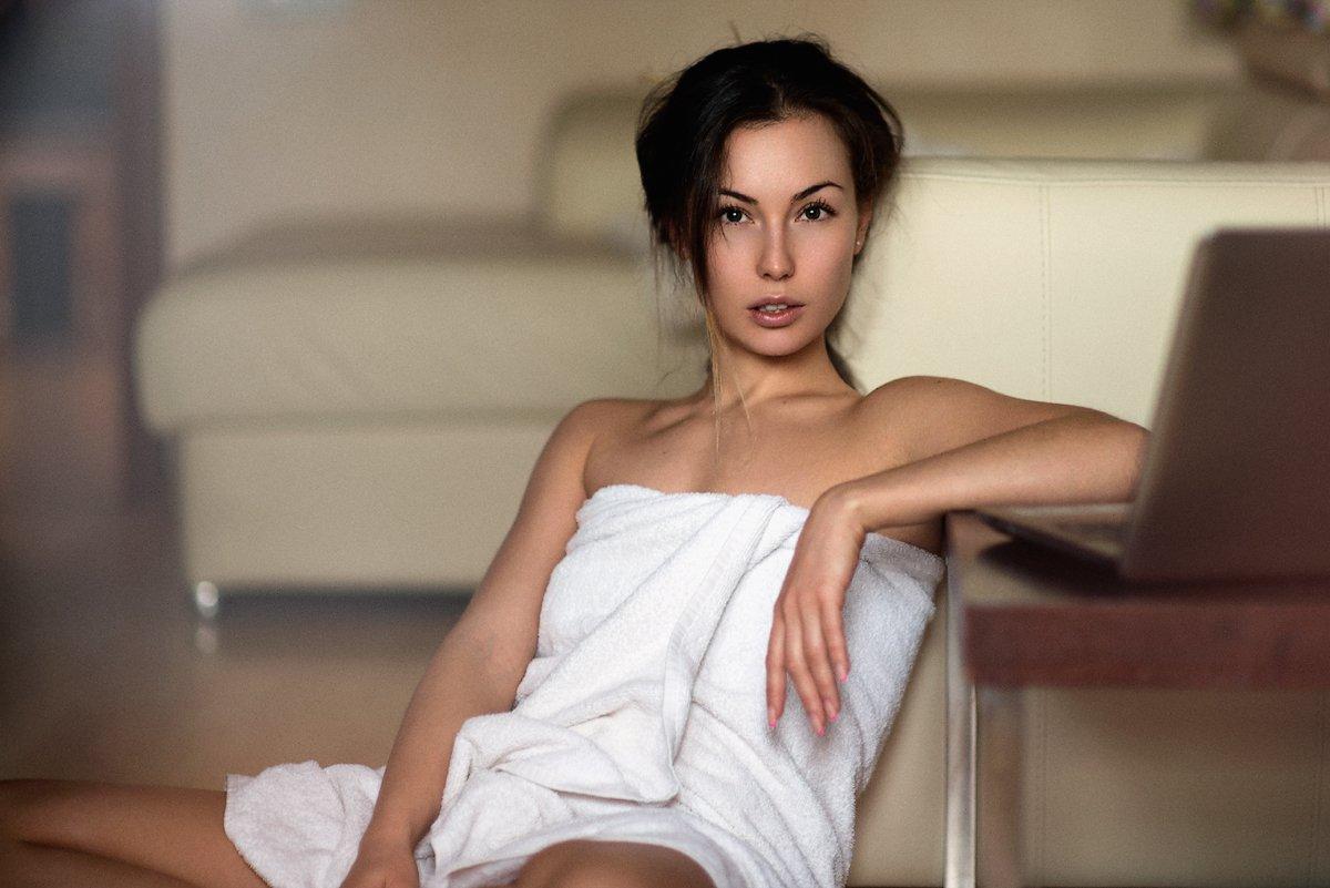 Девушка, красивая, волосы, лицо, глаза, взгляд, nikon, 85mm, портрет, Абдрахманов Аскар