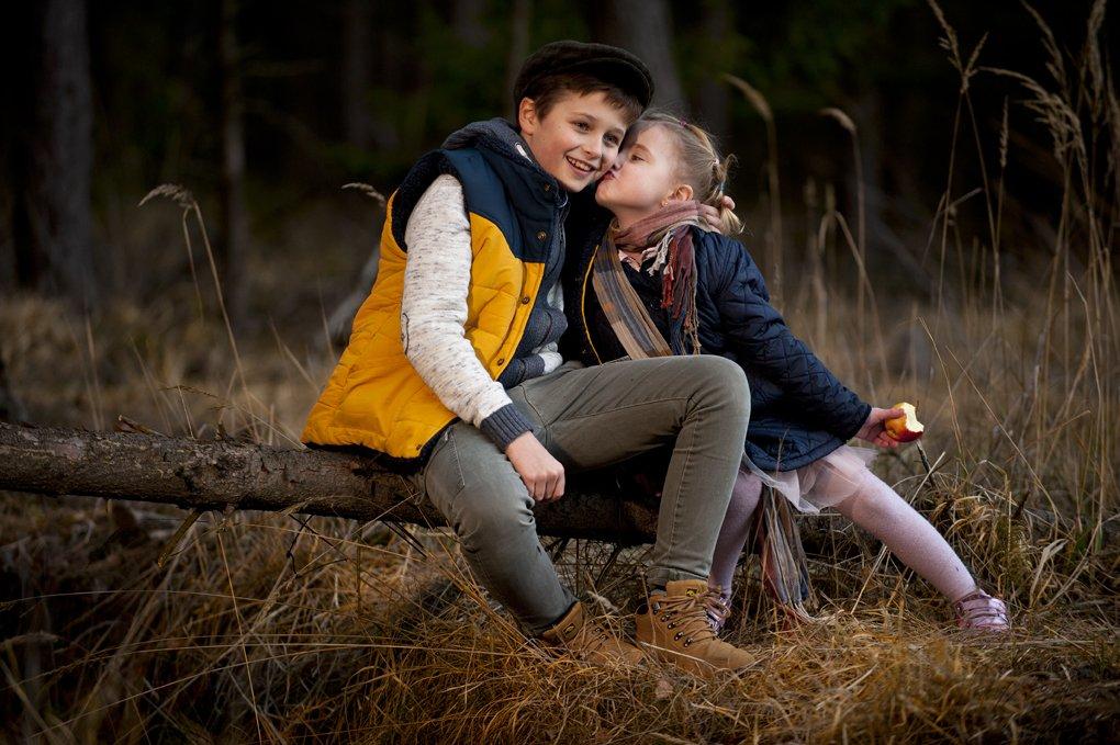 portrait, boy, girl, children, fall,, Tomek Jungowski