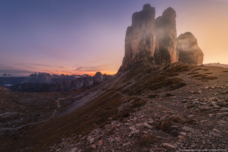 трэ, чиме, ди, лаваредо, италия, горы, скалы, пейзаж, доломиты, доломитовые, пеший, туризм, горный, европа, пик, красивый, природа, три, небо, путешествия, осень, панорама, известные, альпы, синий, вид, тироль, камень, юг, скалолазание, парк, отдых, Александр Науменко