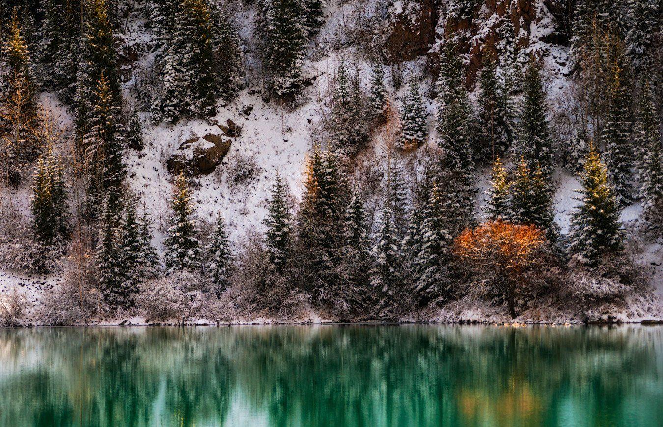 осень, озеро, иссык, Ольга Кулакова
