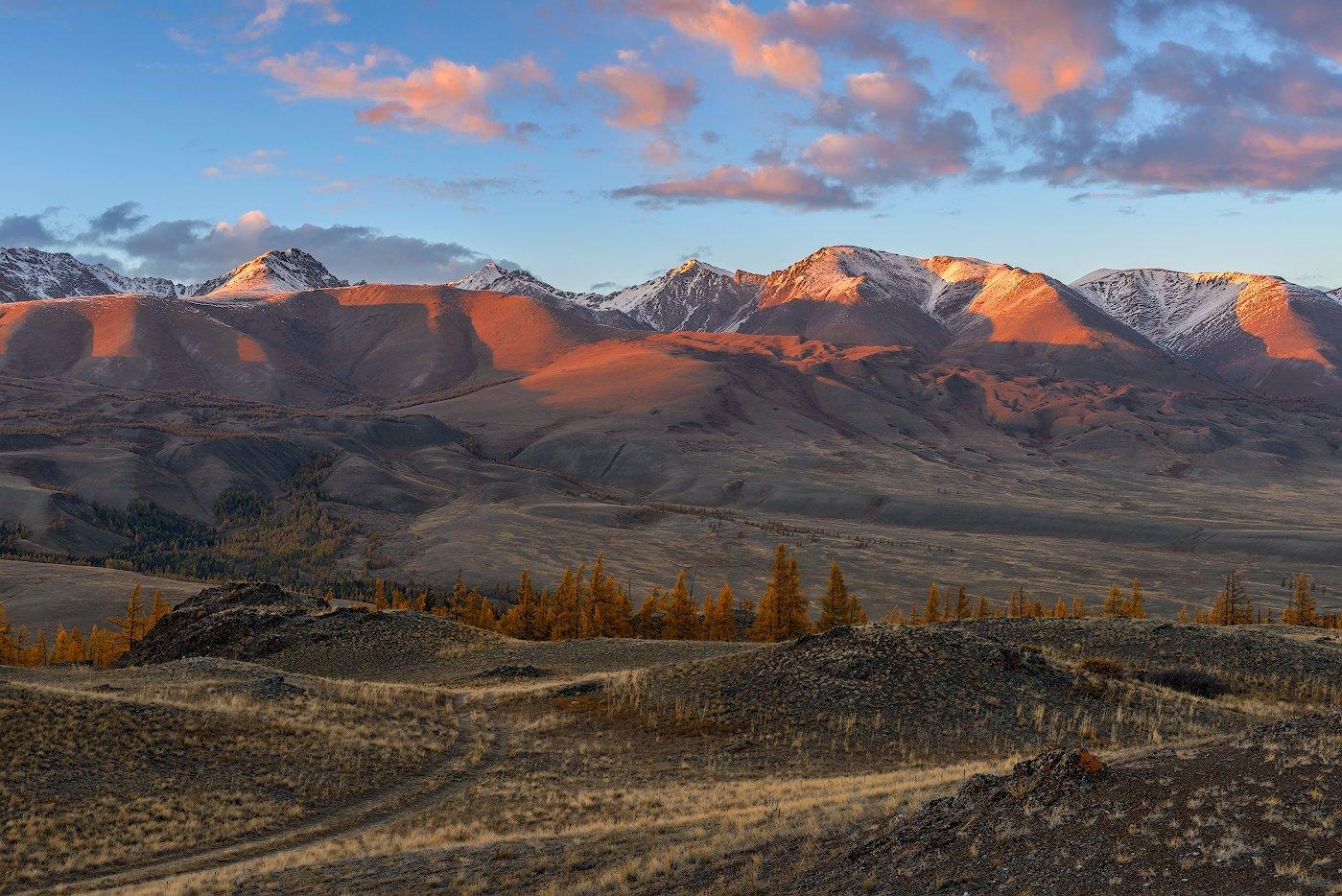 пейзаж, алтай, закат, гоы, облака, небо, Dmitriy  Baginskiy