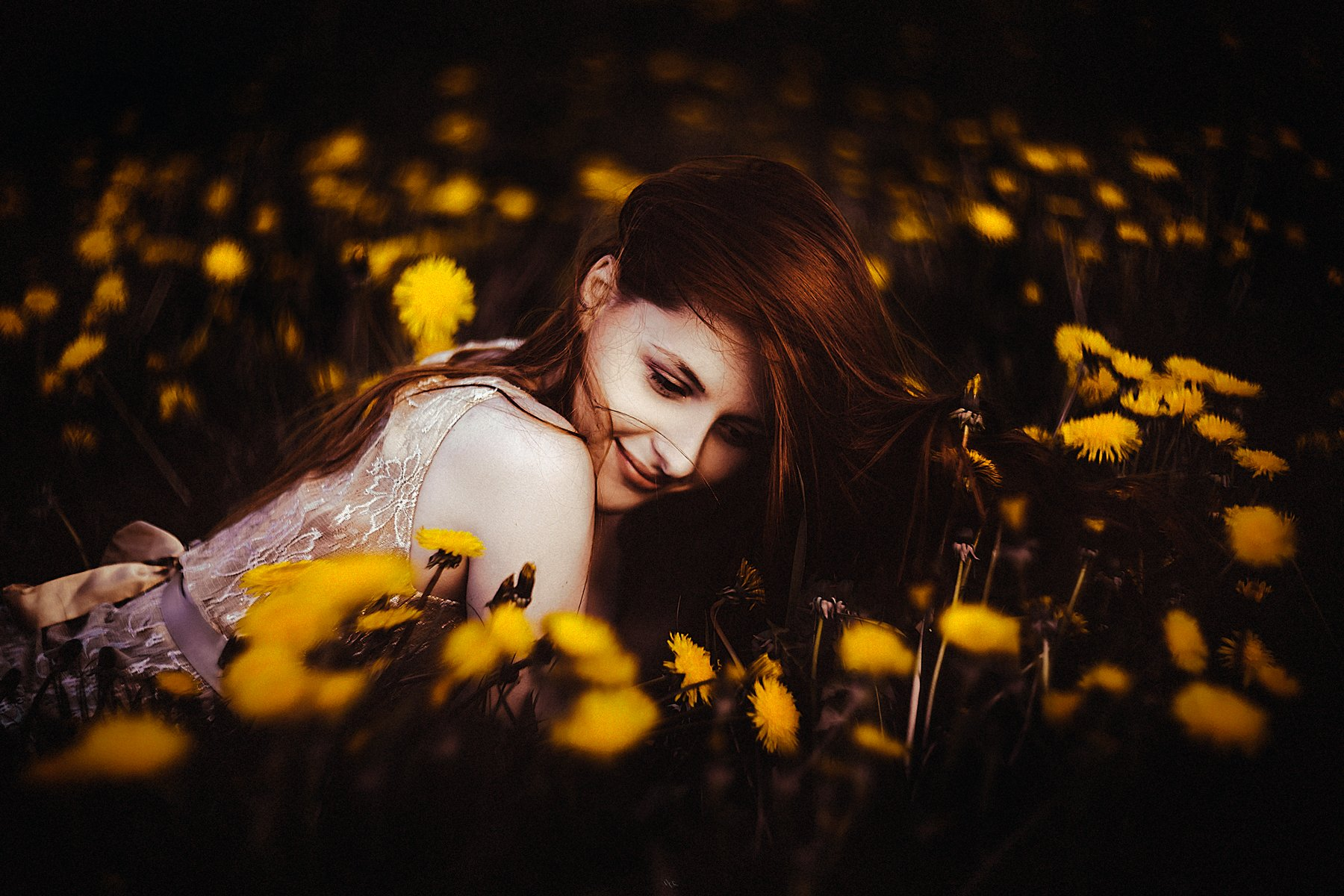 woman, portrait, dundelions, toning, beauty, Руслан Болгов (Axe)