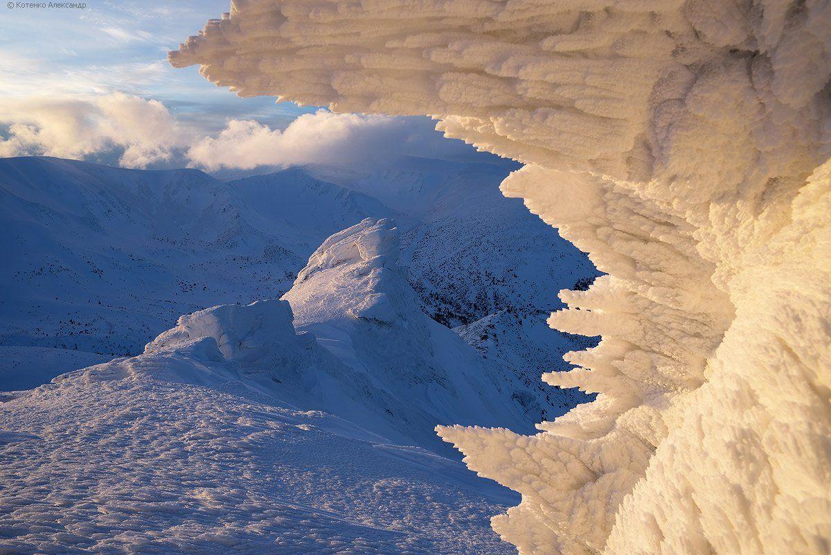 горы, карпаты, зима, Александр Котенко