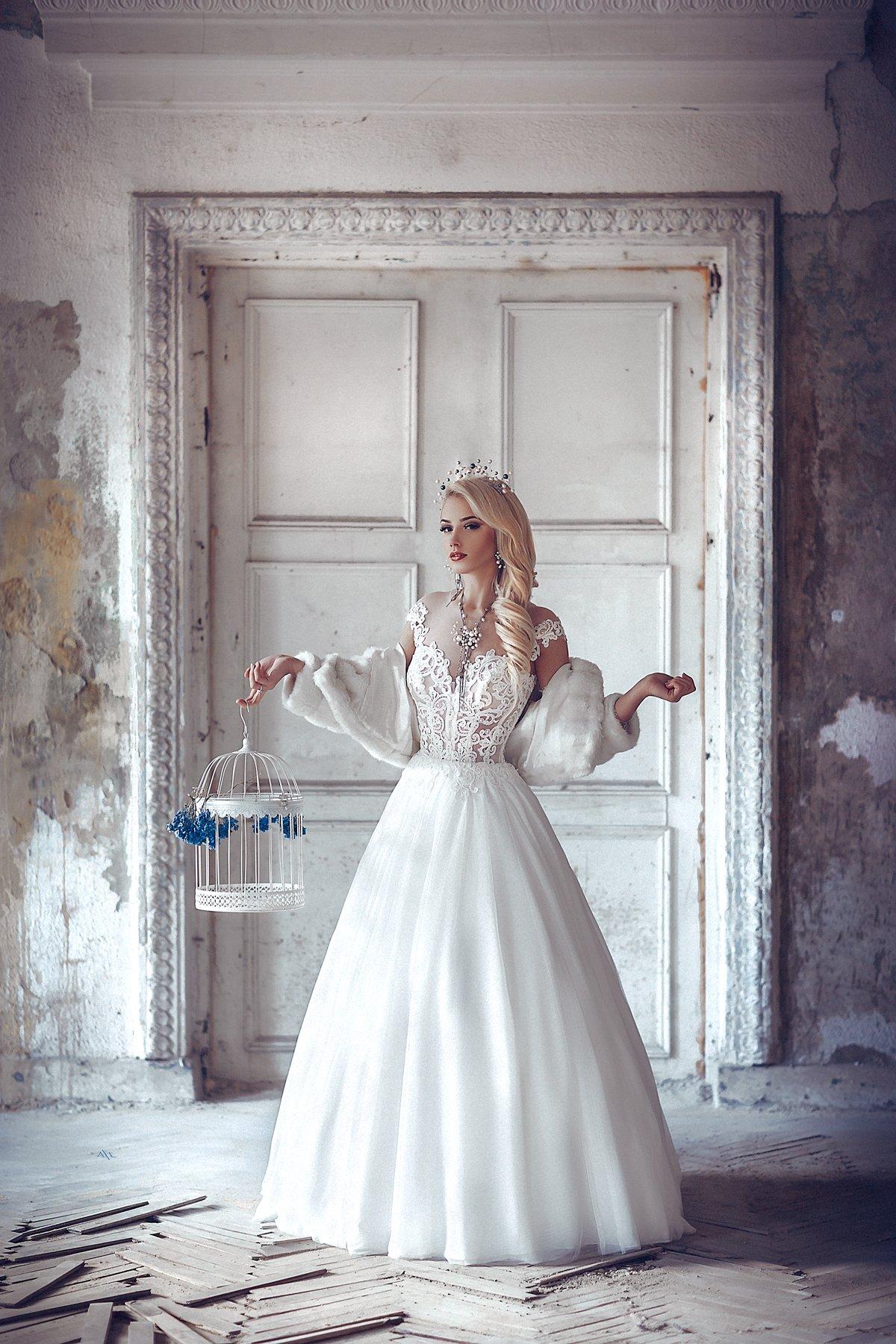 woman, portrait, beauty, bride, dress, light, Руслан Болгов (Axe)