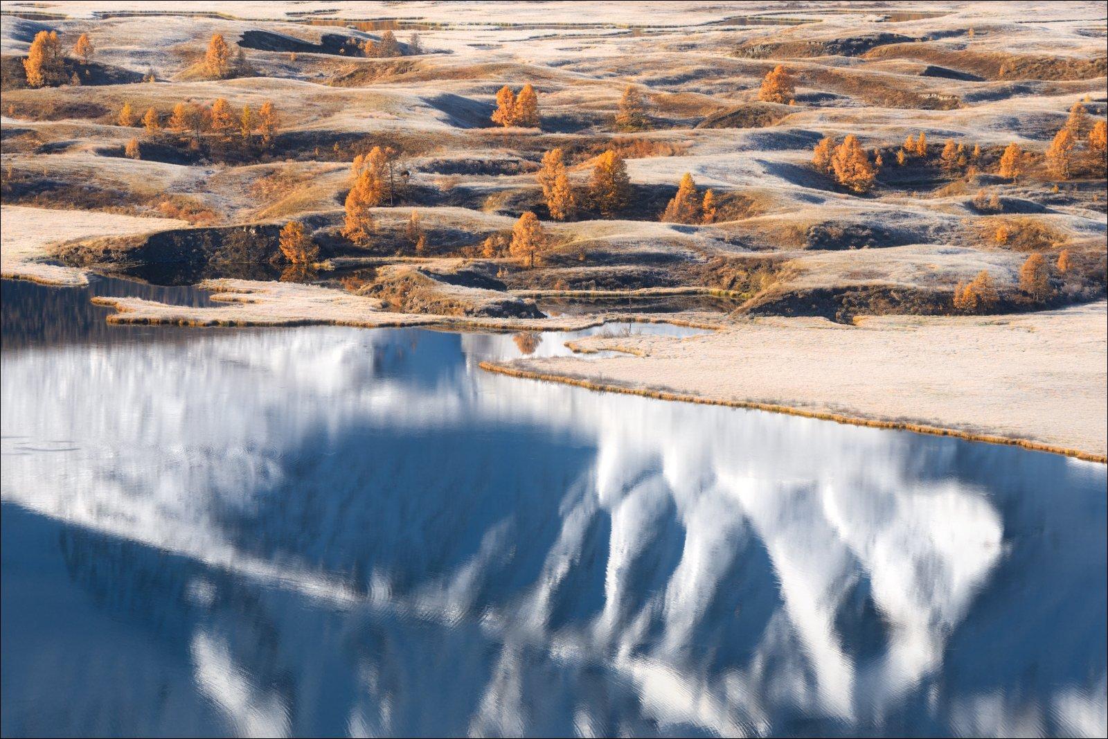алтай, ештыкель, озеро, джангысколь, осень, северо-чуйский хребет, отражение,, Влад Соколовский