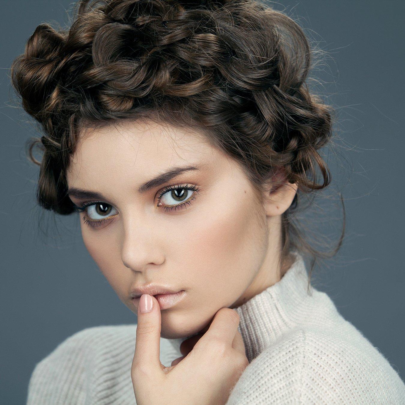 девушка, портрет, взгляд, бьюти, модель, глаза, блики, кудри, Сотников Иван