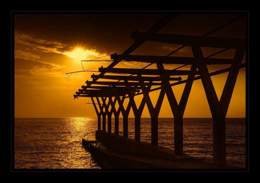 пейзаж, крым, море, пирс, небо, солнце, Oleg Dmitriev
