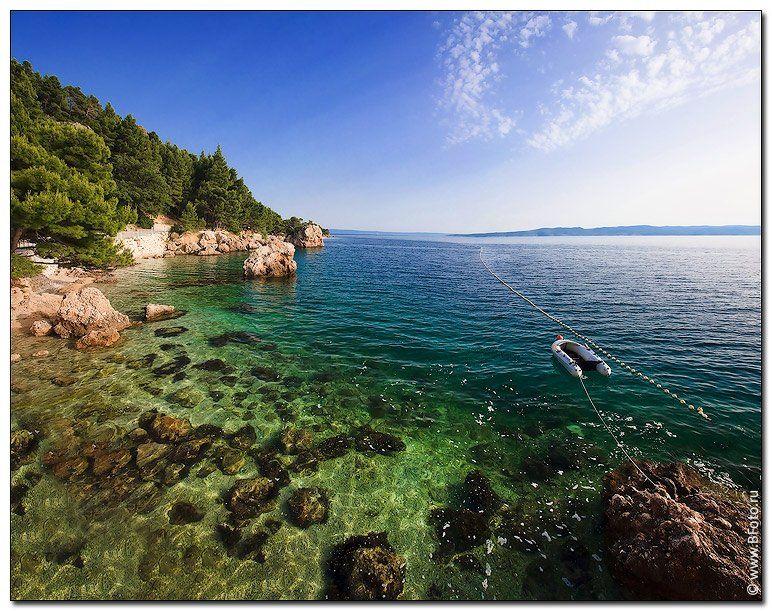 брела, хорватия, адриатическое море, Алексей Строганов