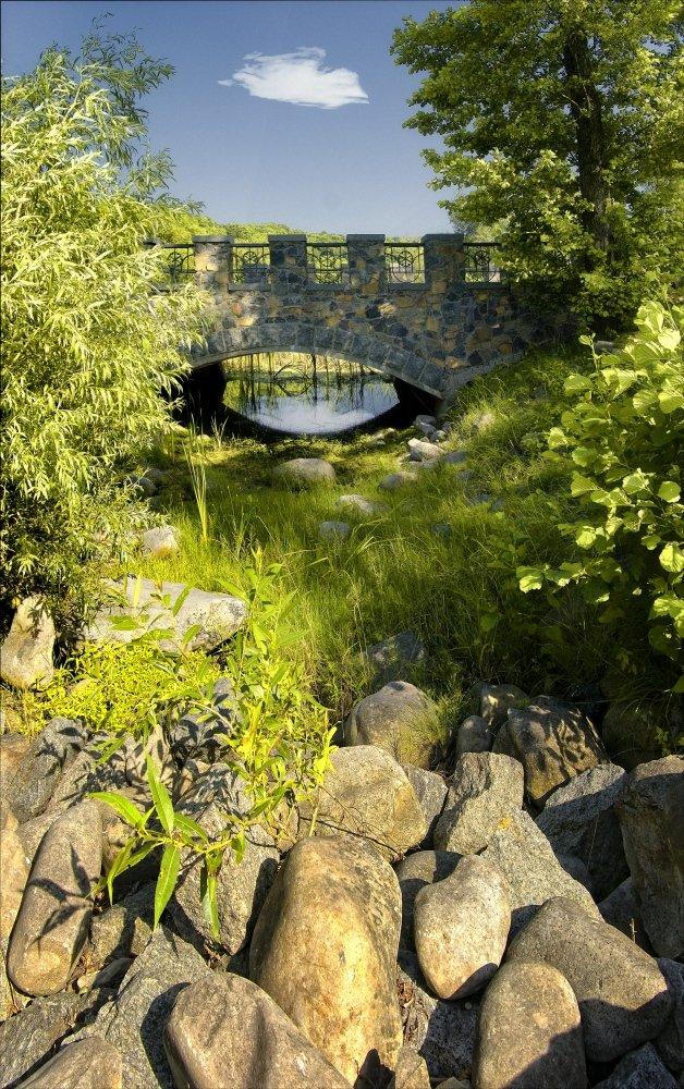 пейзаж мост, киев, Tina Grach