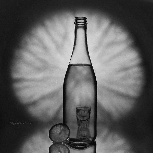 стекло, фото, натюрморт, лимон, лайм, цитрус, Ольга Горелова