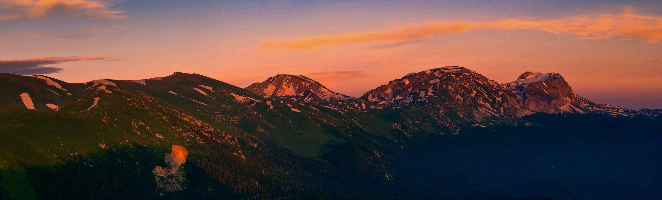 горы, , кавказ, лаго-наки, оштен, пшехо-су, фишт, вид, черногор, нагой, -чук, фёдор