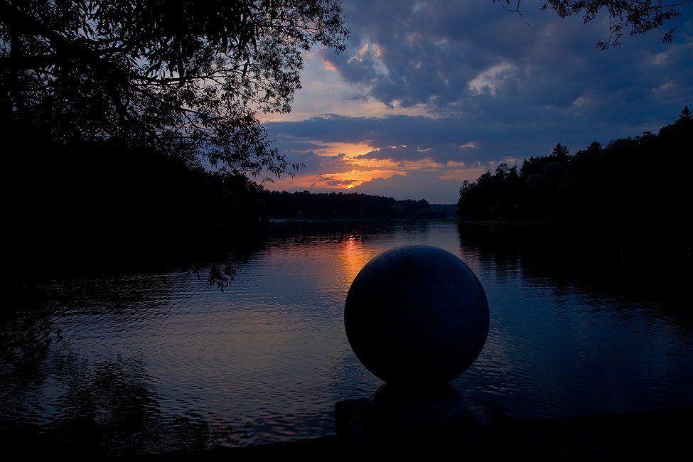 озеро, закат, тишина, tolyan139