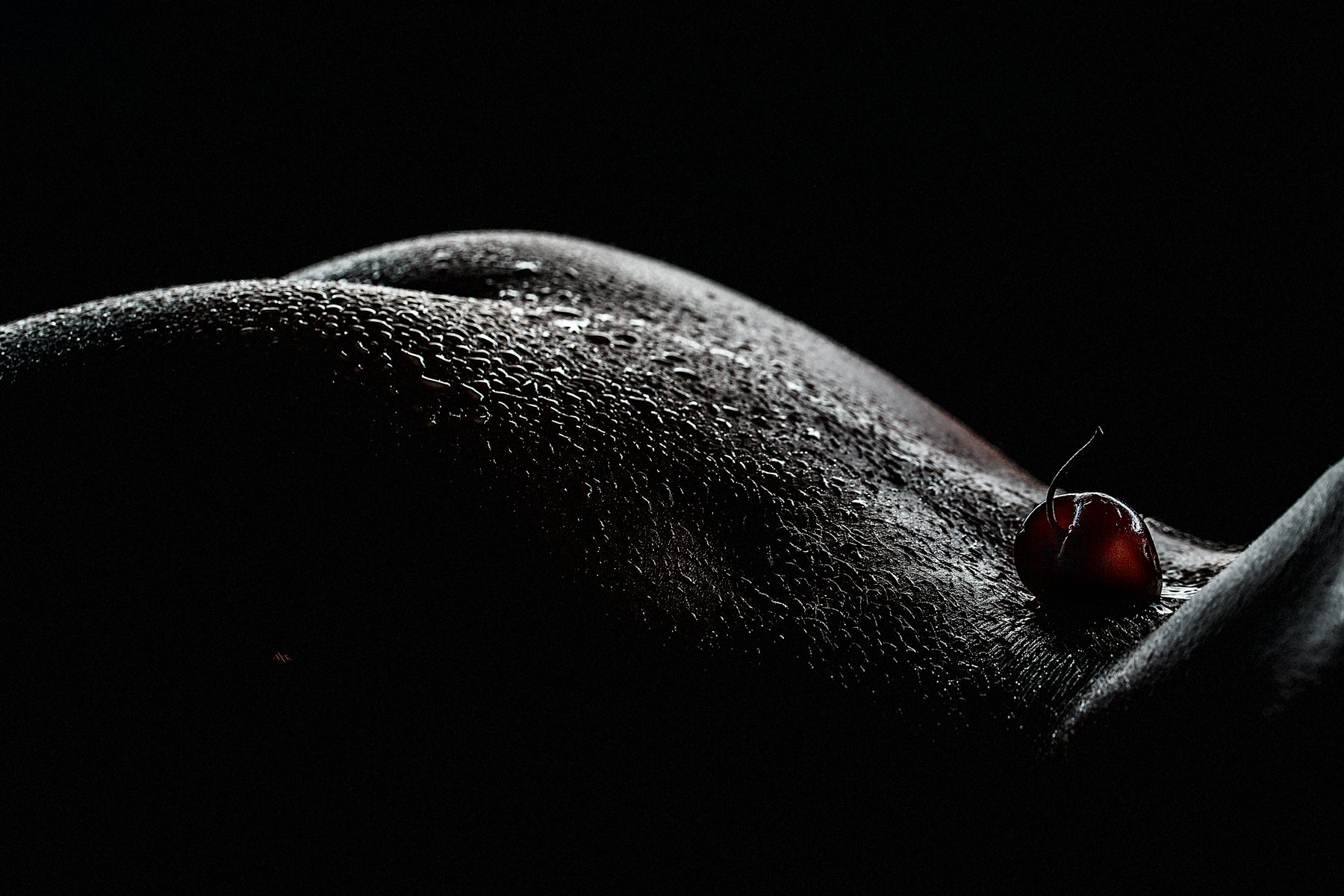 woman, nude, cherry, Руслан Болгов (Axe)