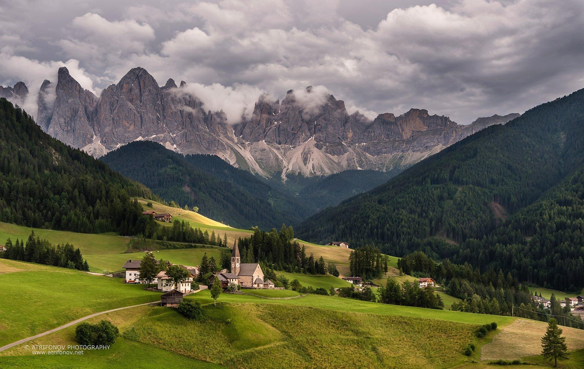 Santa Maddalena, South Tyrol, Dolomites, Italy, Val de Funes, Alps, village,, Andrey Trifonov