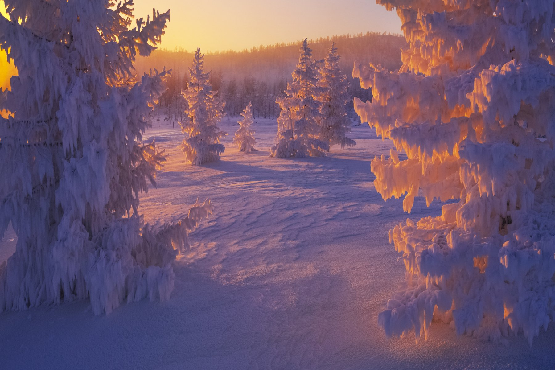 Колыма, Сибирь, зима, мороз, наледь, Владимир Рябков