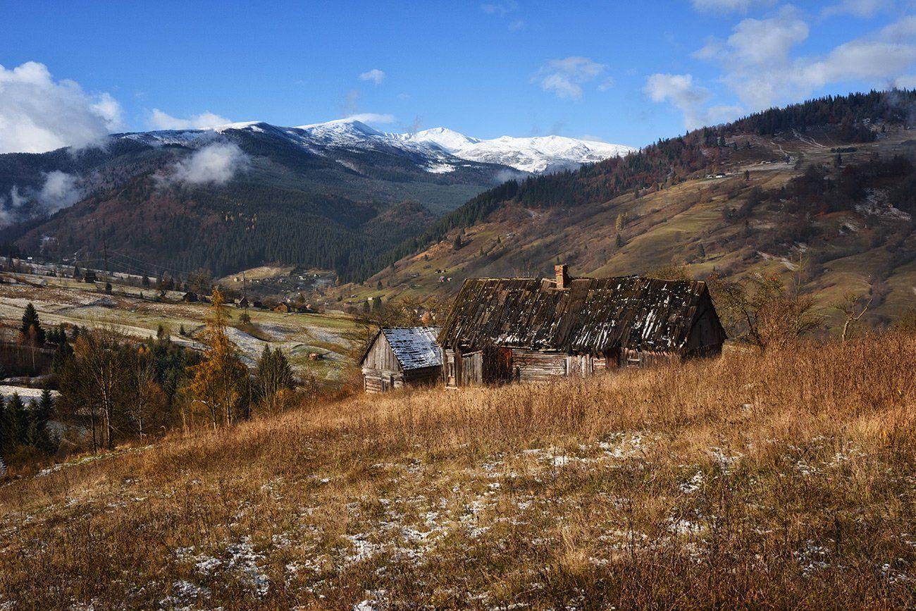 горы,луга, изба, Вьюшкин Игорь