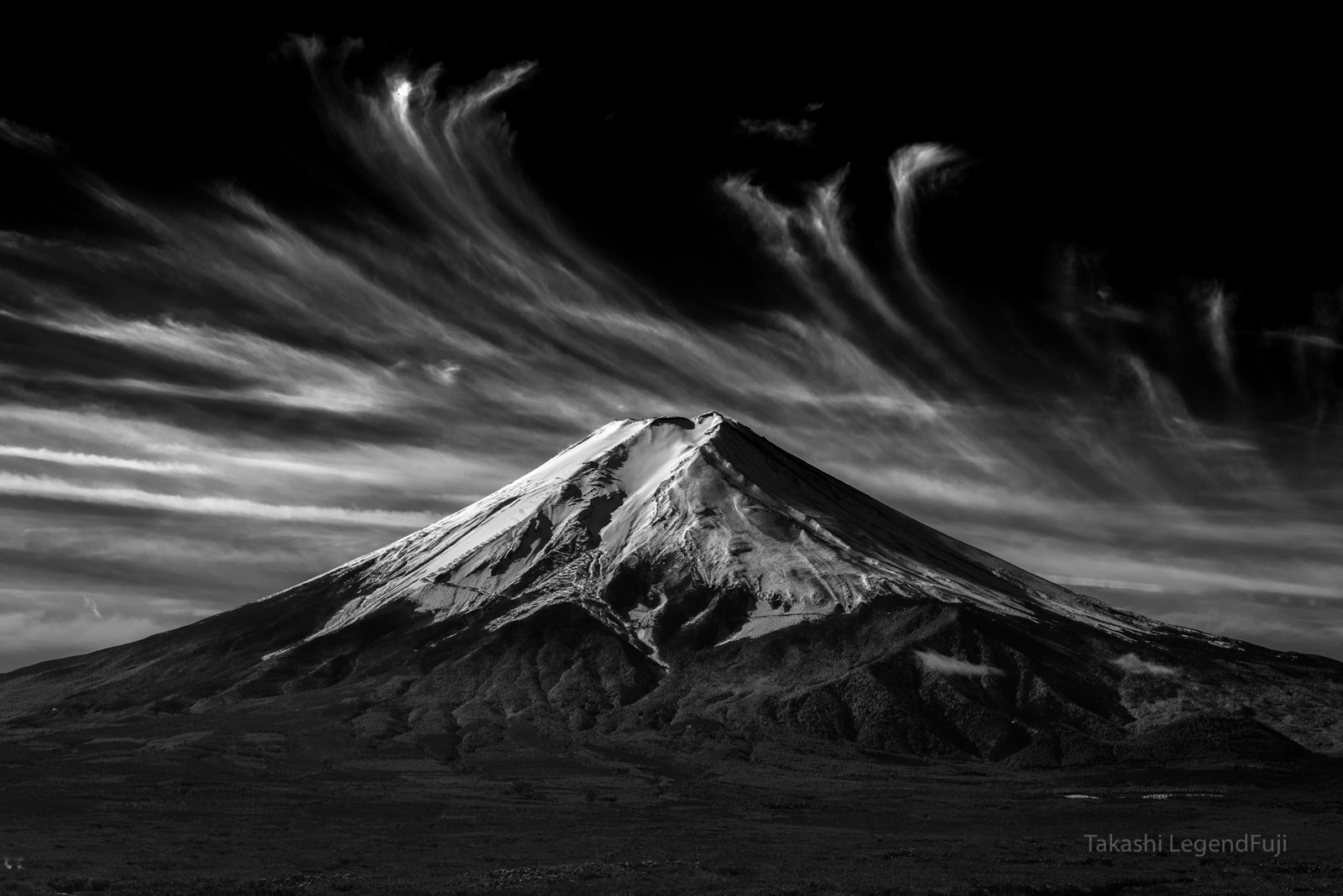 Fuji,mountain,Japan,cloud,fluff,snow,white,, Takashi