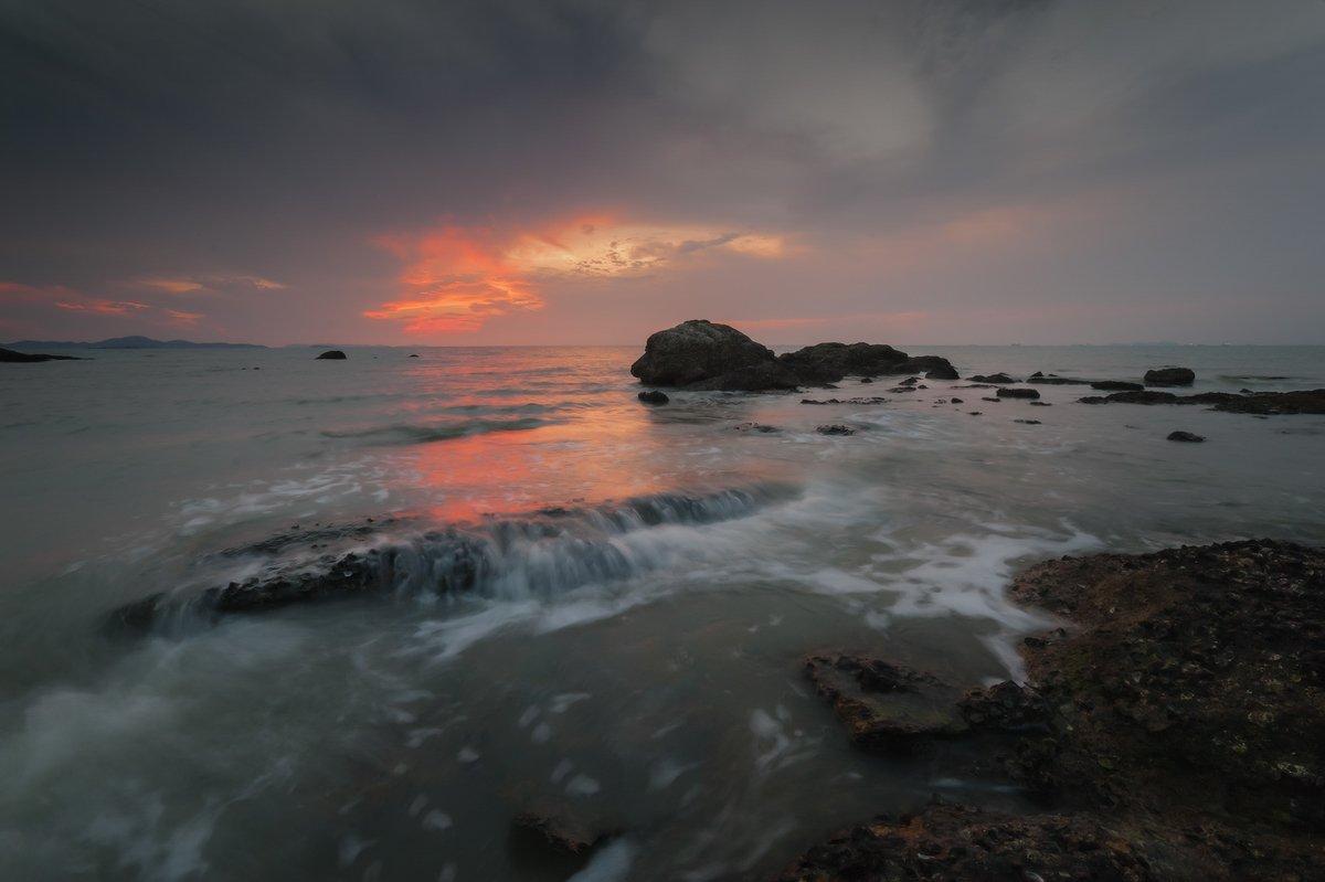 thailand, sunset, stones, sea, pattaya, 2013, Борис Богданов
