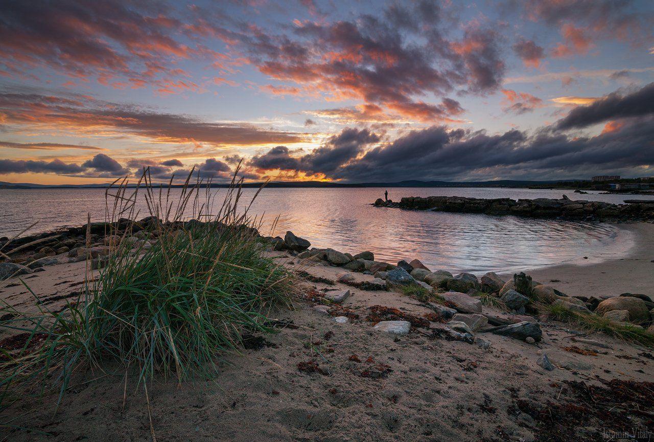 пейзаж,закат,россия,небо,краски,рыбак,вода,море, Истомин Виталий