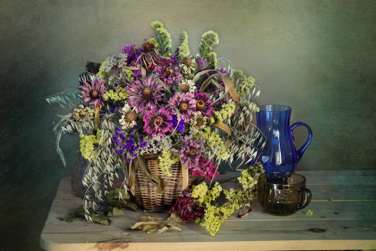 сухие цветы , букет ,натюрморт , вера павлухина,, Вера Павлухина
