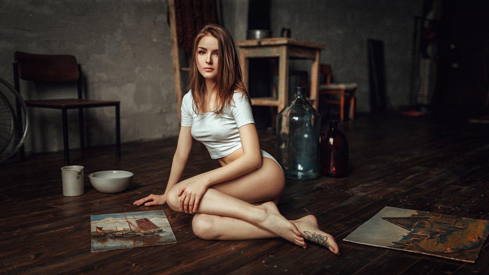 портрет, арт, модель, portrait, art, жанр, Георгий Чернядьев