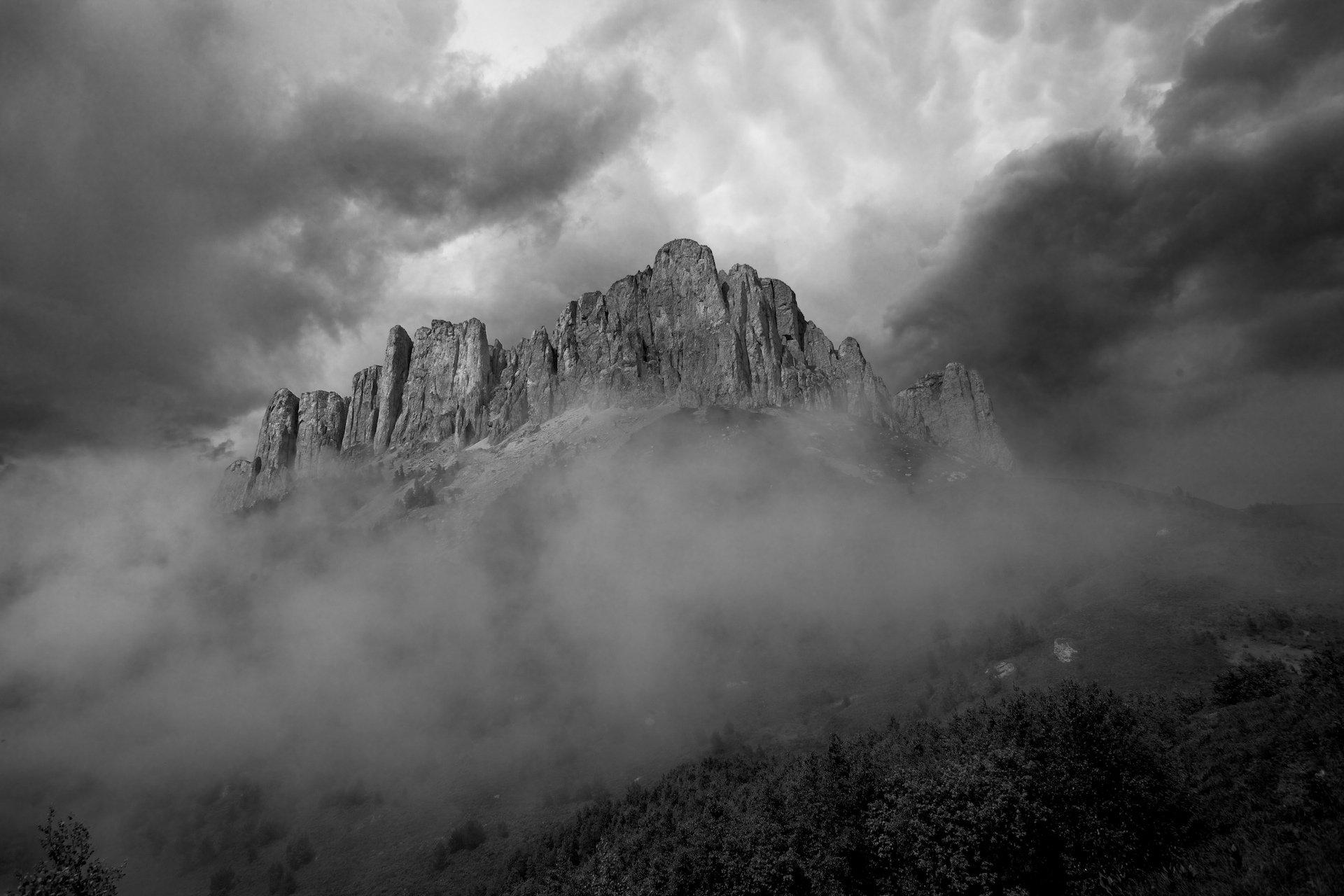 природный парк большой тхач, гора, кавказ, туман, ночь, земля богов,, Никифоров Егор