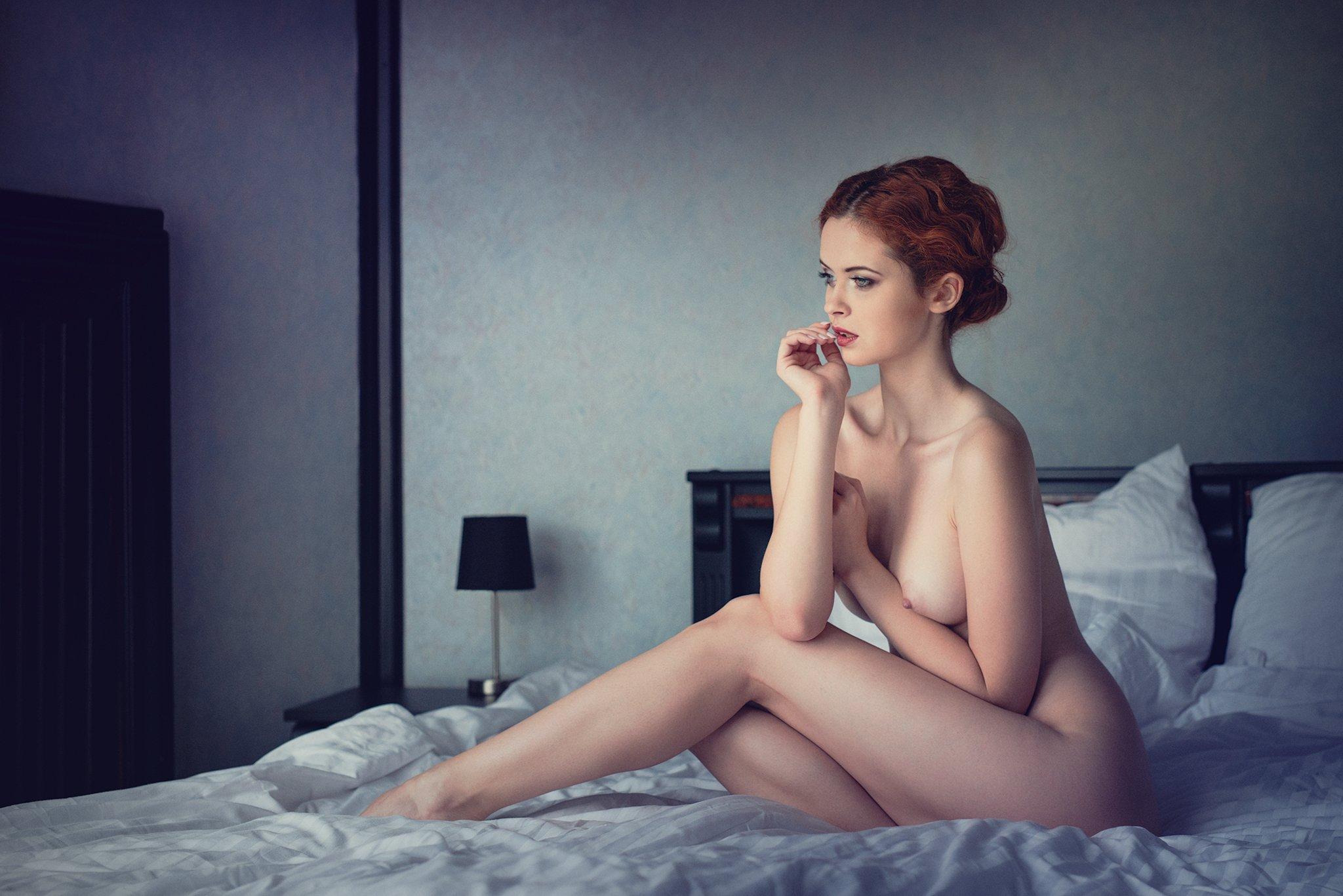 nude, sensual, bedroom, Daniel Bidiuk