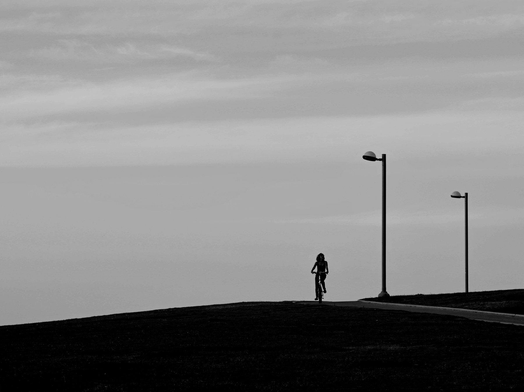 silhouette street black&white, Владимир Алгазин