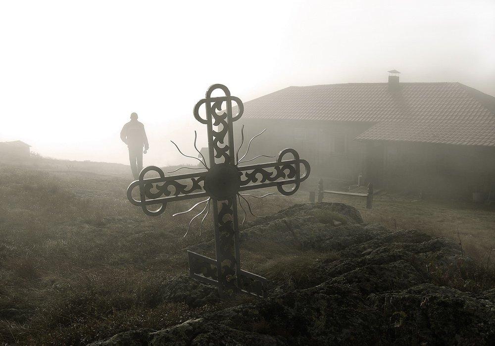 метеостанция, природа, пейзаж, крест, другое фото, Сергей Коляскин