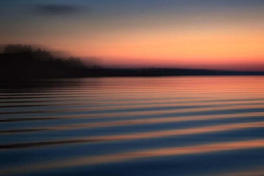 россия, ладожское озеро, волна, вода, озеро, закат, ночь, отражение, горизонт, берег, dyadyavasya, Дмитрий dyadyavasya  Шамин