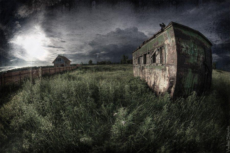 поле,пеленг,дома,фургон,владимир,шипулин, Vladim_Shipulin