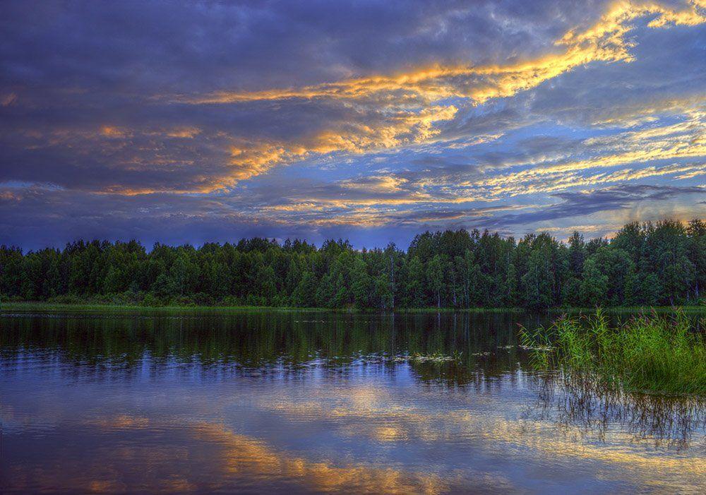 xdr,пейзаж,закат, небо, облака, Андрей Ражев