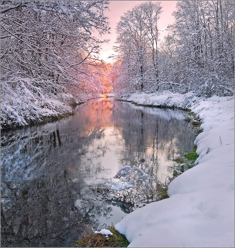 река, снег, беларусь, Andrew Kuzmin