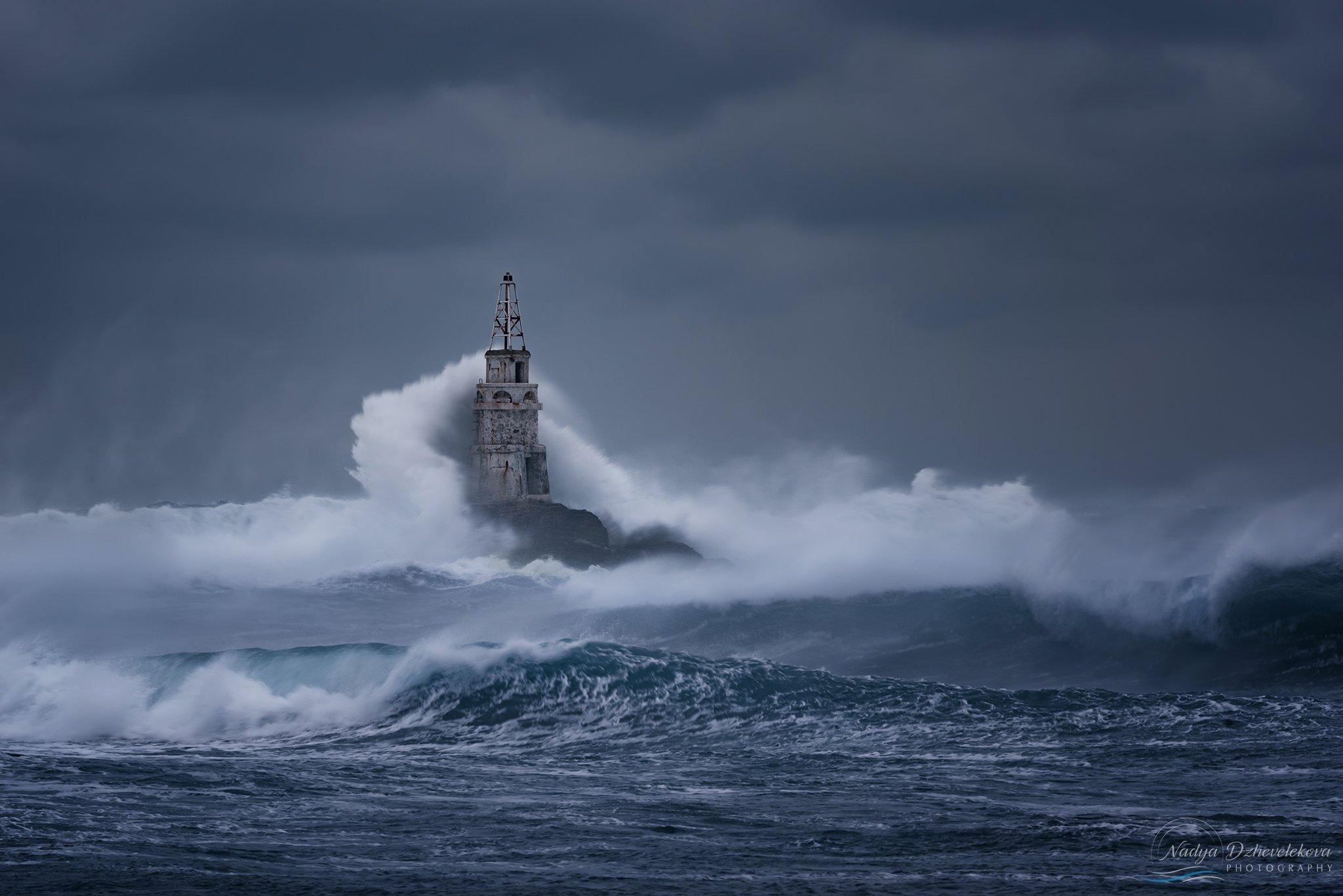 storm, clouds, sea, waves, sky, seascape, cloudscape, Надя Джевелекова