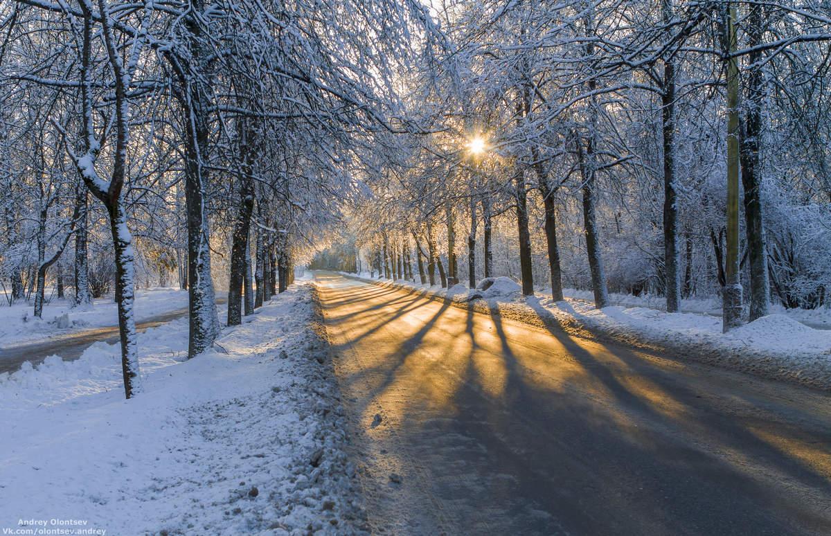 дубна, пейзаж, зима, закат, canon, Андрей Олонцев